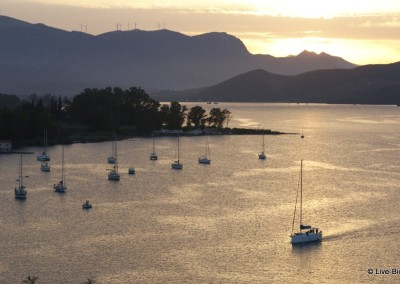 Poros sunset from the Clock Tower