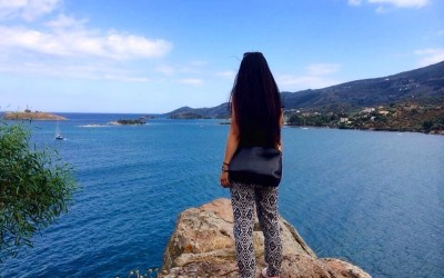 Chinese girl on a startup internship in Greece