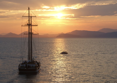 Unforgettable sunsets on Hydra