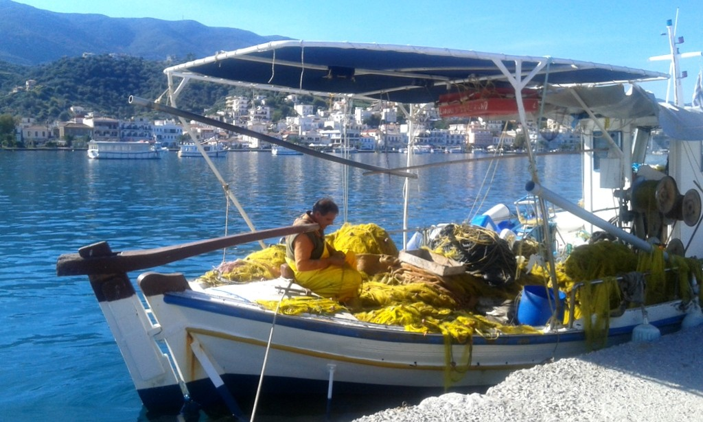 Fisherman's boat in Galatas, Poros - authentic greek experience