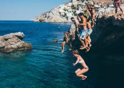 Jump into the crystal clear waters of Hydra