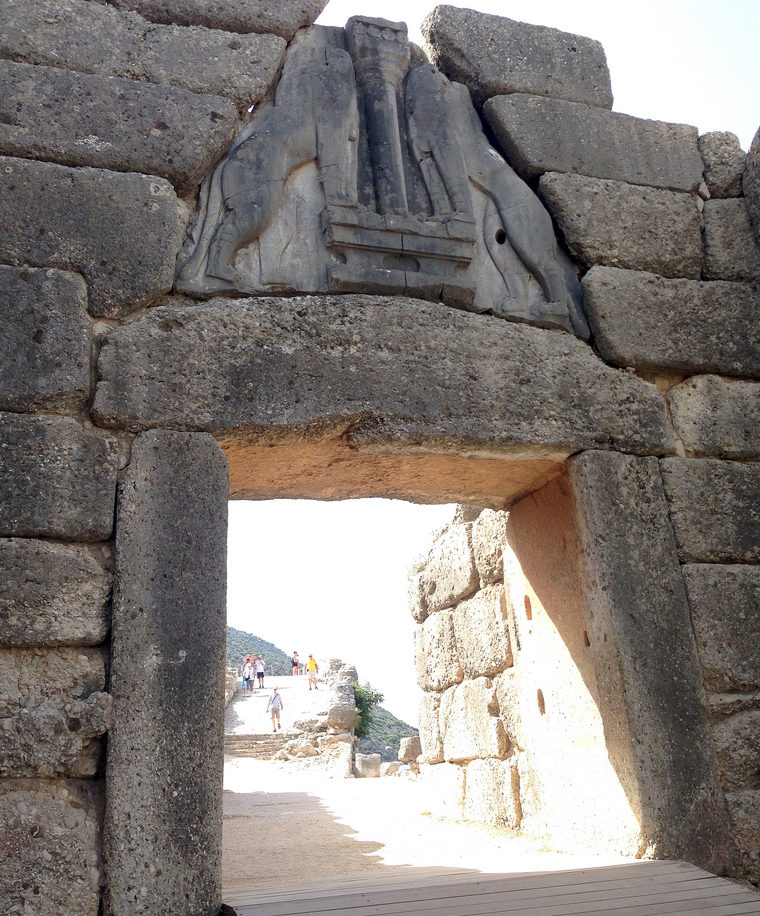 On a day trip to Mycenae Ancient Site