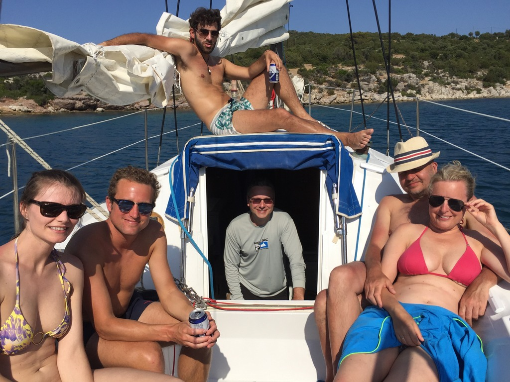 Sailing to the secluded bays of Poros with captain Periklis